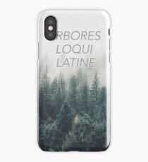 The trees speak latin - Raven boys iPhone Case/Skin