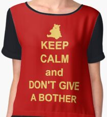 Keep Calm and Don't Give a Bother Women's Chiffon Top