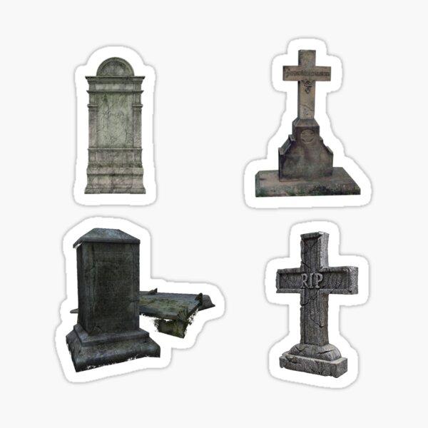 Graveyard Cemetery Sticker Pack Sticker