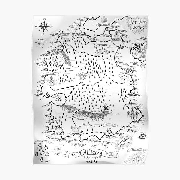 Map of Al'Terra - by Siren Poster