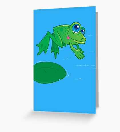 Diving Frog Greeting Card