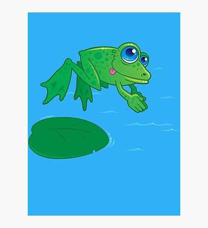 Diving Frog Photographic Print