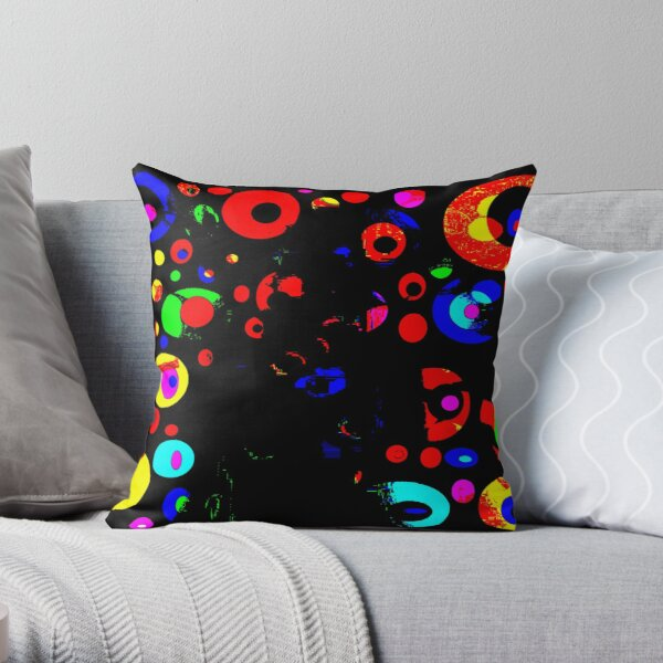Abstract Art Background Circles Throw Pillow