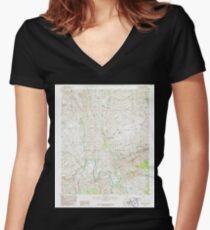 USGS TOPO Map Arizona AZ Dagger Peak 311066 1986 24000 Women's Fitted V-Neck T-Shirt