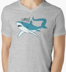 Thresher shark - OMG! Men's V-Neck T-Shirt
