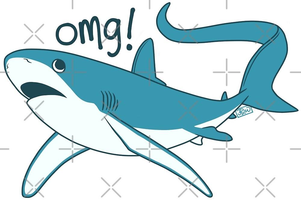 Thresher shark - OMG! by Jen Richards