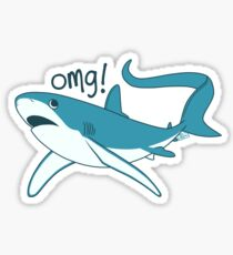 Thresher shark - OMG! Sticker