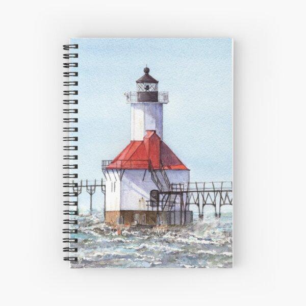 North Pier Lighthouse St. Joseph Michigan Spiral Notebook