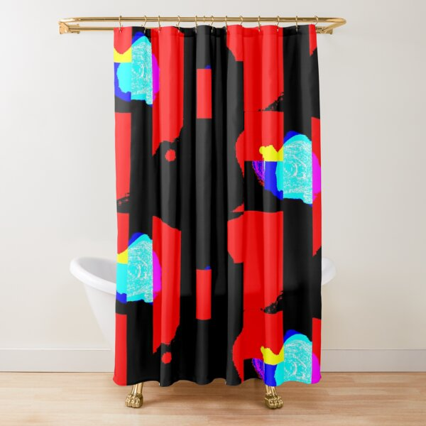 Funky Colorful Abstract Background Shower Curtain