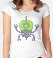 Brainbot Robot with Brain Women's Fitted Scoop T-Shirt