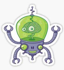 Brainbot Robot with Brain Sticker