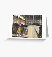 Fara atrium stroll Greeting Card