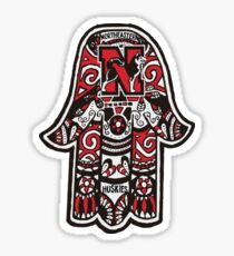 Northeastern University Hamsa Sticker