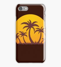 Palm Trees and Sun iPhone Case/Skin