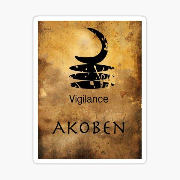 Akoben Adinkra Symbol Sticker