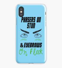 phasers on stun, eyebrows on fleek iPhone Case/Skin