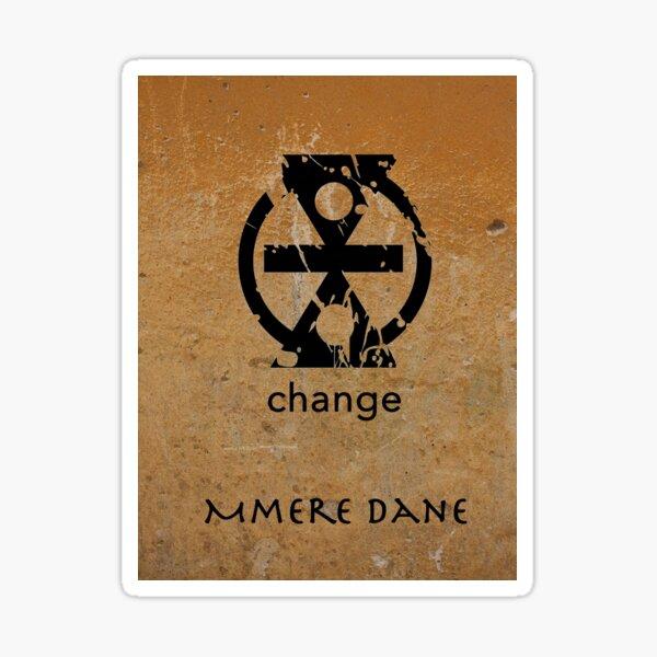 Mmere Dane Adinkra Symbol Sticker