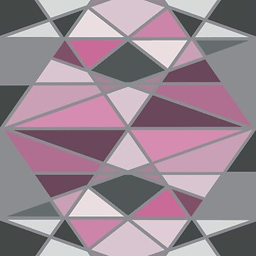 Grey and Pink Triangle Geometric Pattern by givemeenvy