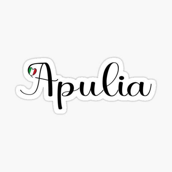 Apulia With Italian Heart - I Love Apulia Sticker