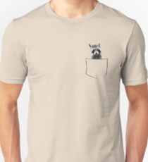 Raccoon in my pocket! Unisex T-Shirt