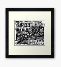 Heavy cruiser Toledo Framed Print