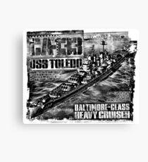 Heavy cruiser Toledo Canvas Print