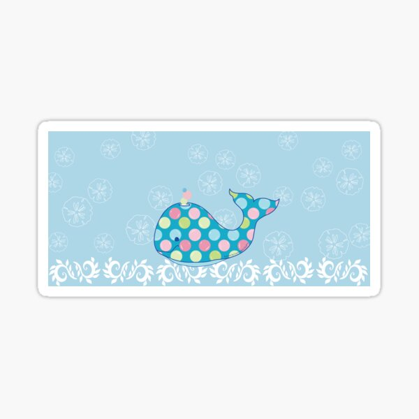 BUBBLES the Baby Whale Sea of Blue Sticker