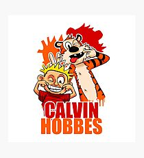 Calvin and Hobbes Time Photographic Print
