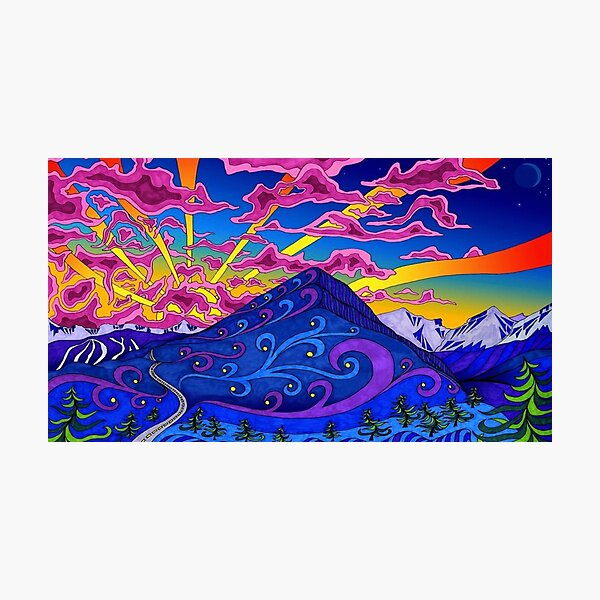 Psychedelic Landscape Photographic Print