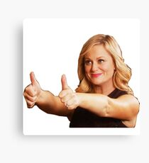Leslie Knope -Thumb's Up Canvas Print