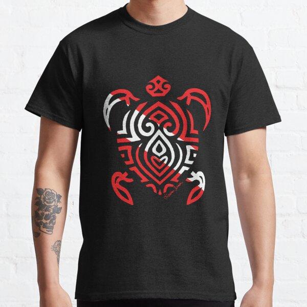 Scuba Flag Tribal Turtle Classic T-Shirt