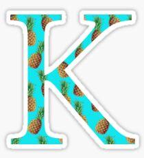 Kappa Pineapple Letter Sticker