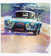 Rally Monte Carlo 1972 Alpine-Renault A110 1600  Poster