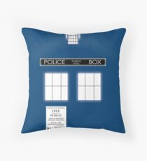 TARDIS Duvet & etc Throw Pillow
