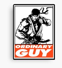 Ryu Ordinary Guy Obey Design Canvas Print
