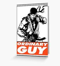 Ryu Ordinary Guy Obey Design Greeting Card