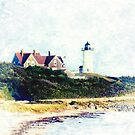 Nobska Lighthouse Cape Cod Illustrated by Marianne Campolongo