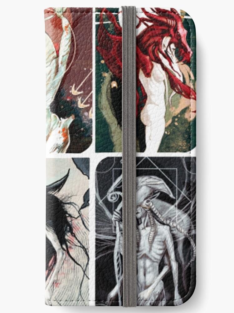 'Elven Gods Pantheon Dragon Age Inquisition Tarot Cards' iPhone Wallet by  nekhebit