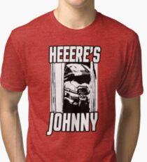 Heeere's Johnny - HALO Spartan 117 Tri-blend T-Shirt