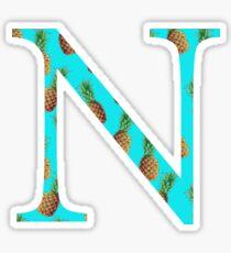 Nu Pineapple Letter Sticker