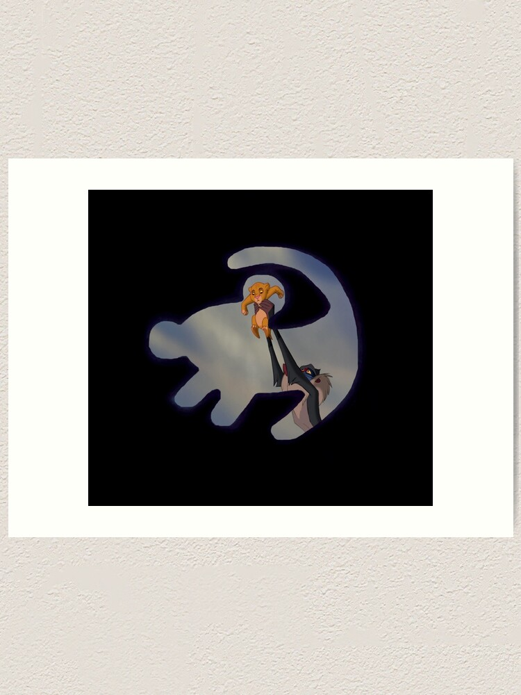 The Lion King Simba Silhouette Art Print By Lucyc13 Redbubble