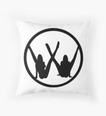 VW leg girls black design Throw Pillow
