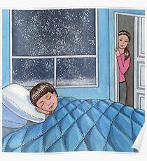 Sleeping Boy Baby Room Art Poster
