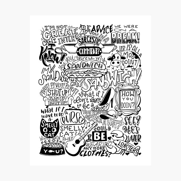 Friends Quote Compilation Photographic Print