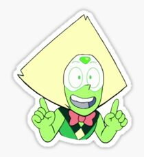 the happiest (and probably only) peridot on earth Sticker