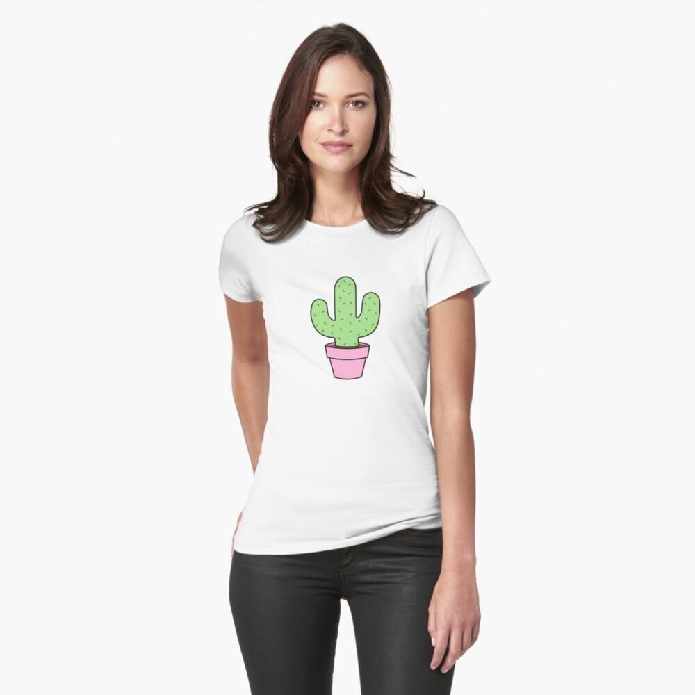 Cactus renovado Camiseta entallada