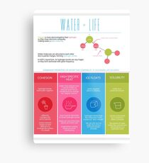 Water is Life Infographic Poster Metal Print