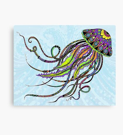 Electric Jellyfish Canvas Print