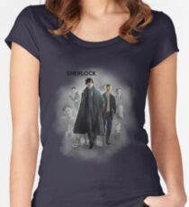 BBC Sherlock Women's Fitted Scoop T-Shirt