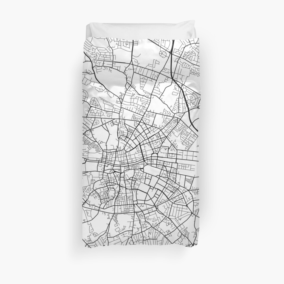 Map Of Ireland Black And White.Dublin Map Ireland Black And White Duvet Covers By